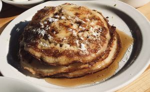 American Style Banana Pecan Pancakes with Pembrokeshire Sea Salted Caramel Sauce